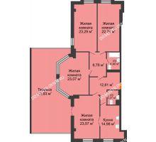 4 комнатная квартира 153,63 м² в ЖК Дом на Провиантской, дом № 12 - планировка