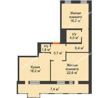 2 комнатная квартира 82,6 м², Жилой дом: ул. Варварская - планировка