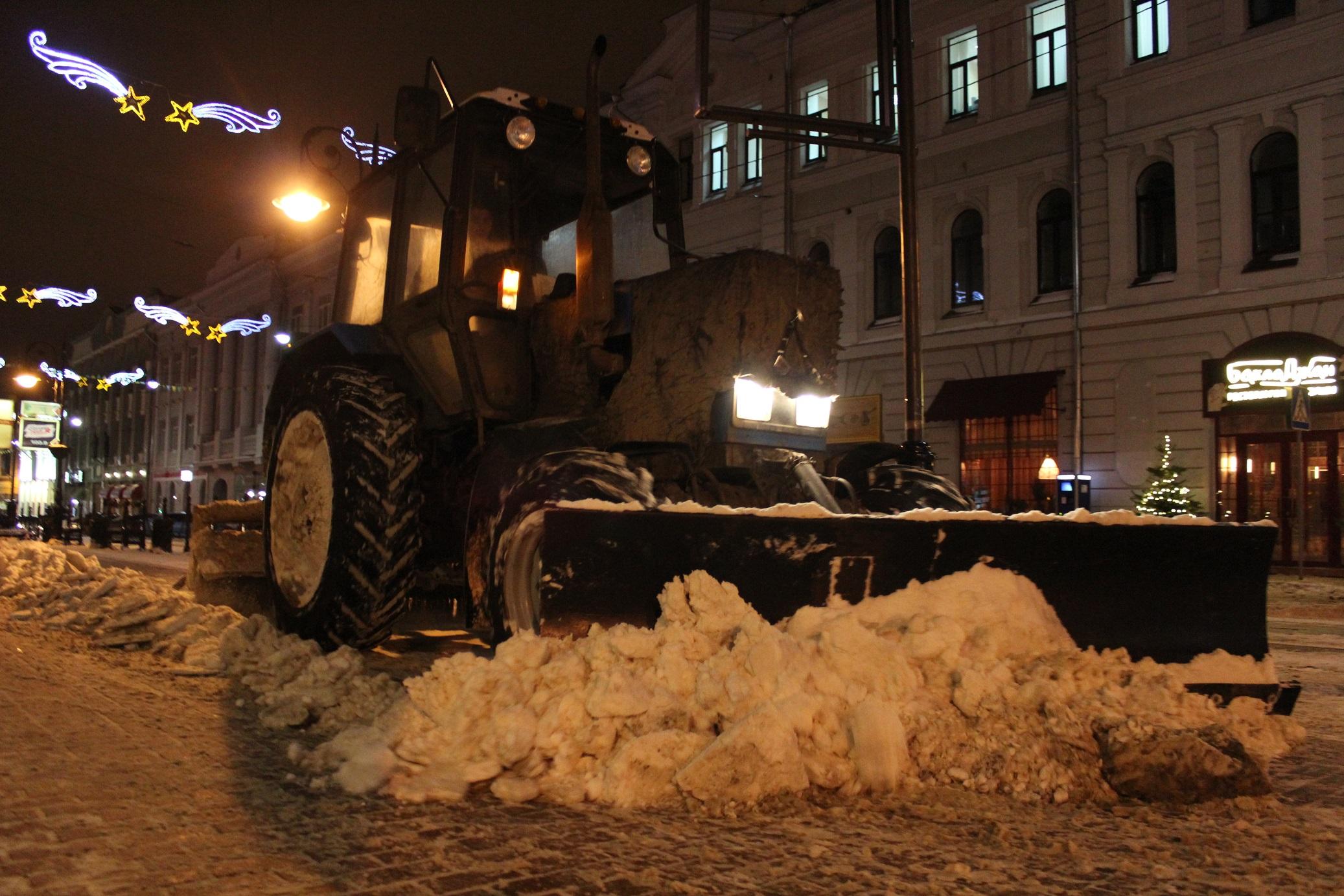 С улиц Нижнего Новгорода вывезено свыше 15000 кубометров снега
