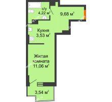 Студия 29,45 м² в ЖК Город у реки, дом Литер 8 - планировка