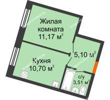 1 комнатная квартира 31,02 м², ЖК Советский - планировка