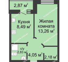 1 комнатная квартира 32,25 м² в ЖК Парк Горького, дом 62/3, № 5 - планировка