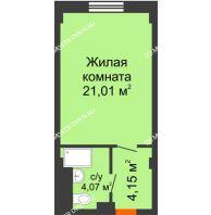 Апартаменты-студия 29,23 м², Апарт-Отель Гордеевка - планировка