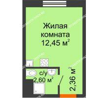 Студия 17,41 м² в ЖК Бурнаковский, дом № 48 - планировка