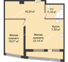 2 комнатная квартира 81,8 м², ЖК Адмирал - планировка