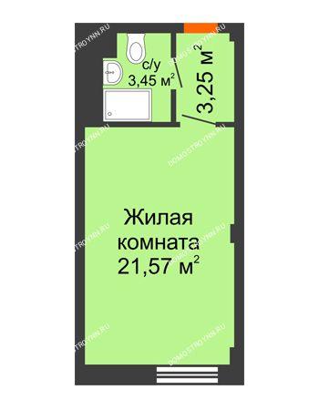 Студия 28,27 м² - Апарт-Отель Гордеевка