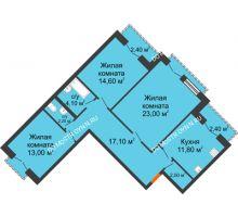 3 комнатная квартира 90,2 м², Жилой дом: г. Дзержинск, ул. Кирова, д.12 - планировка
