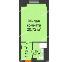 Студия 28,94 м², Апарт-Отель Гордеевка - планировка